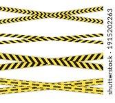 vector set of danger crossed... | Shutterstock .eps vector #1915202263