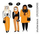 muslim women gathered together...   Shutterstock .eps vector #1915210450