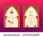 india wedding invitation card... | Shutterstock .eps vector #1915222609