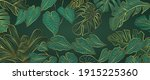 luxury gold and nature green... | Shutterstock .eps vector #1915225360