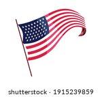 waving flag. american flag on...   Shutterstock .eps vector #1915239859