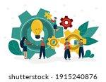 teamwork generates new ideas....   Shutterstock .eps vector #1915240876