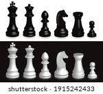 set of chess pieces 3d....   Shutterstock .eps vector #1915242433