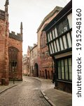 Small photo of Bailey lane with the old cathedral ruins and Coventry Guildhall