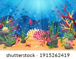 Underwater World With A Coral...