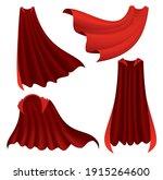 superhero red cape. scarlet... | Shutterstock .eps vector #1915264600