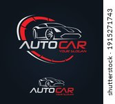 car garage premium concept logo ... | Shutterstock .eps vector #1915271743