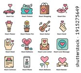 heart love icons line color... | Shutterstock .eps vector #1915275649