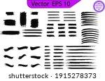 black paint  ink brush strokes  ... | Shutterstock .eps vector #1915278373