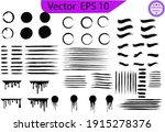 black paint  ink brush strokes  ... | Shutterstock .eps vector #1915278376