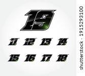 simpel racing start number... | Shutterstock .eps vector #1915293100