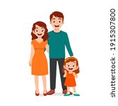 cute little girl with mom and...   Shutterstock .eps vector #1915307800