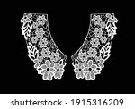 cotton collar lace hand drawn... | Shutterstock .eps vector #1915316209