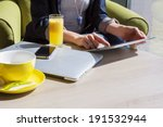 woman using her mobile devices... | Shutterstock . vector #191532944
