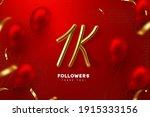 one thousand followers banner....   Shutterstock .eps vector #1915333156