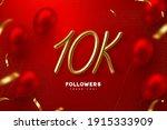 ten thousand followers banner....   Shutterstock .eps vector #1915333909