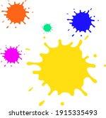 colorful water splash... | Shutterstock .eps vector #1915335493