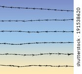 silhouette of barbed wire with... | Shutterstock .eps vector #191538620