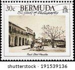 bermuda   circa 1989  a stamp... | Shutterstock . vector #191539136