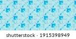 Aqua Pattern. Blue Dyed Wall....