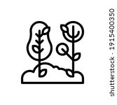 forest and tree icon logo...