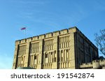 norwich castle with british flag