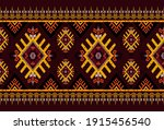 gemetric ethnic oriental ikat... | Shutterstock .eps vector #1915456540