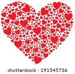 Big Red Heart With Many Hearts