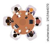 business meeting top view.... | Shutterstock .eps vector #1915464070