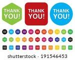 thank you button | Shutterstock .eps vector #191546453