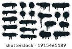 spray paint shapes. sprayed... | Shutterstock .eps vector #1915465189