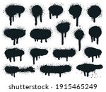 painted spray elements. grunge... | Shutterstock .eps vector #1915465249