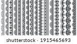 lace pattern elements. vintage... | Shutterstock .eps vector #1915465693