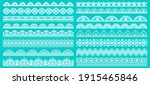 vintage lace borders. seamless... | Shutterstock .eps vector #1915465846