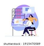 business woman boss explain to...   Shutterstock .eps vector #1915470589
