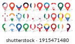 country flag location sign. 30... | Shutterstock .eps vector #1915471480