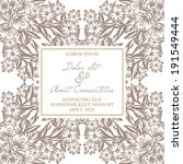 wedding invitation cards with... | Shutterstock .eps vector #191549444