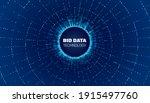 bigdata circle network. bigdata ... | Shutterstock .eps vector #1915497760