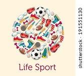 circular concept of sports... | Shutterstock .eps vector #191551130