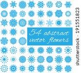 set of abstract vector flowers | Shutterstock .eps vector #191551823