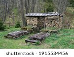 Old Tombs In Former Abandoned...