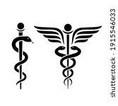 snake medical icon  caduceus... | Shutterstock .eps vector #1915546033