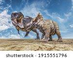 T Rex Against Triceratops ...