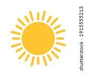 sun icon for graphic design... | Shutterstock .eps vector #1915555213