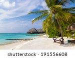 scenery of tropical resort... | Shutterstock . vector #191556608