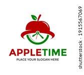 apple time vector logo template.... | Shutterstock .eps vector #1915567069