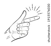 Hand Snap Fingers Flick Outline ...