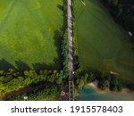 Aerial View Of The Railway...