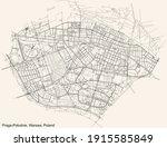 black simple detailed street... | Shutterstock .eps vector #1915585849