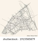 black simple detailed street... | Shutterstock .eps vector #1915585879